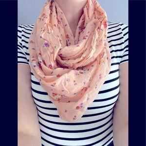 AE Pink Floral Print Scarf